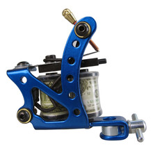 NEW Handmade Tattoo Machine 8 wrap coils Cast Iron Guns Shader Liner MCY014-9 Blue