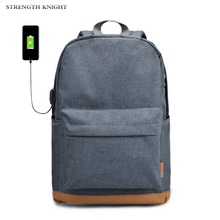 USB Charging Laptop Backpack 15.6 inch Anti Theft Women Men School Bags For Teenage Girls College Travel Backpack Canvas kingsons usb charging men women backpack anti theft laptop backpack 15 15 6 inch waterproof school bags for teenage boys girls