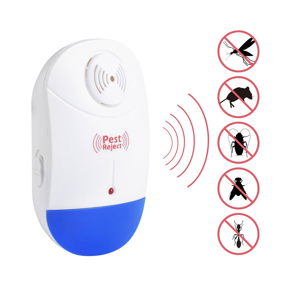 Fashion Electronic Ultrasonic Pest Repeller High Effective Repel Insect For Mouse Cockroach Mosquito Flies Ants Spiders