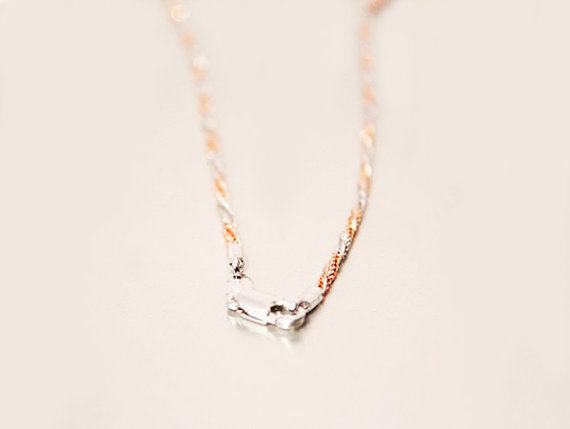 6fc25154e39ab 1 pcs chain necklace fine rose gold and white gold filled width 1.5 ...
