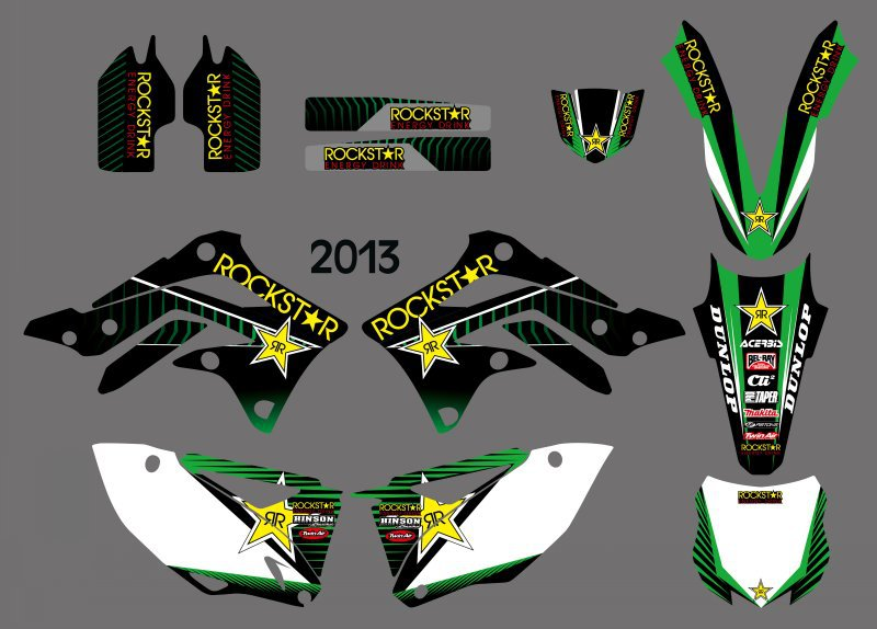 New Style (0361) Star  TEAM GRAPHICS & BACKGROUNDS DECALS STICKERS Kits for Kawasaki KX450F KXF450 2013 KX 450F KXF 450 кровать витра 54 11