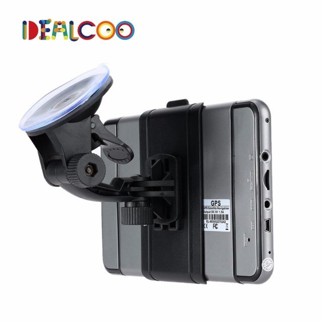 Dealcoo 7 pulgadas HD GPS Del Coche de la Navegación FM 4 GB/128 M DDR/800 MHZ Mapa Actualización Gratuita españa/Europa/EE. UU. + Canadá/Israel Camión gps Sat nav