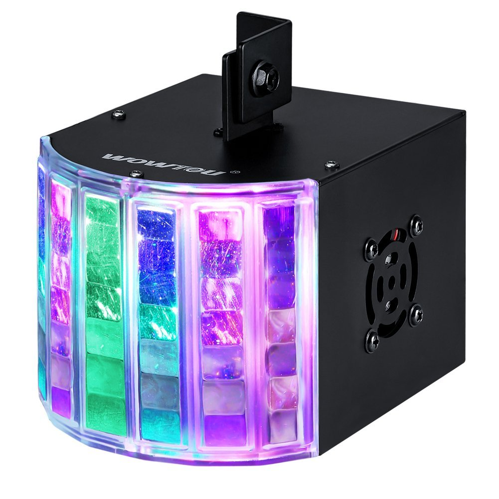 DJ Lights DMX Sound Music Activated 18W RGB LED Strobe Effect Stage Lighting for Club Disco Party Show mini rgb led party disco club dj light crystal magic ball effect stage lighting