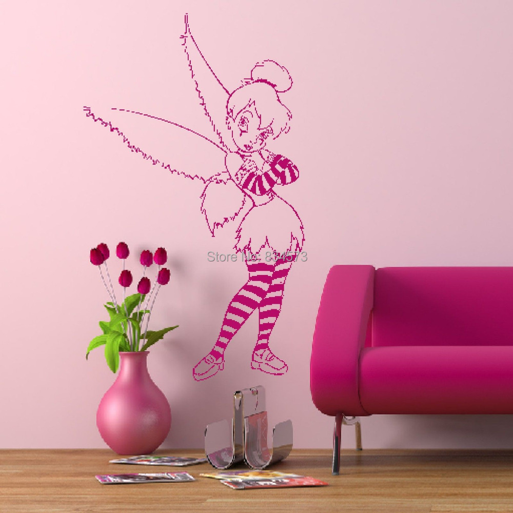 Tinkerbell wall sticker todosobreelamorfo tinkerbell wall sticker popular tinkerbell bedroom buy cheap tinkerbell bedroom lots from amipublicfo Images
