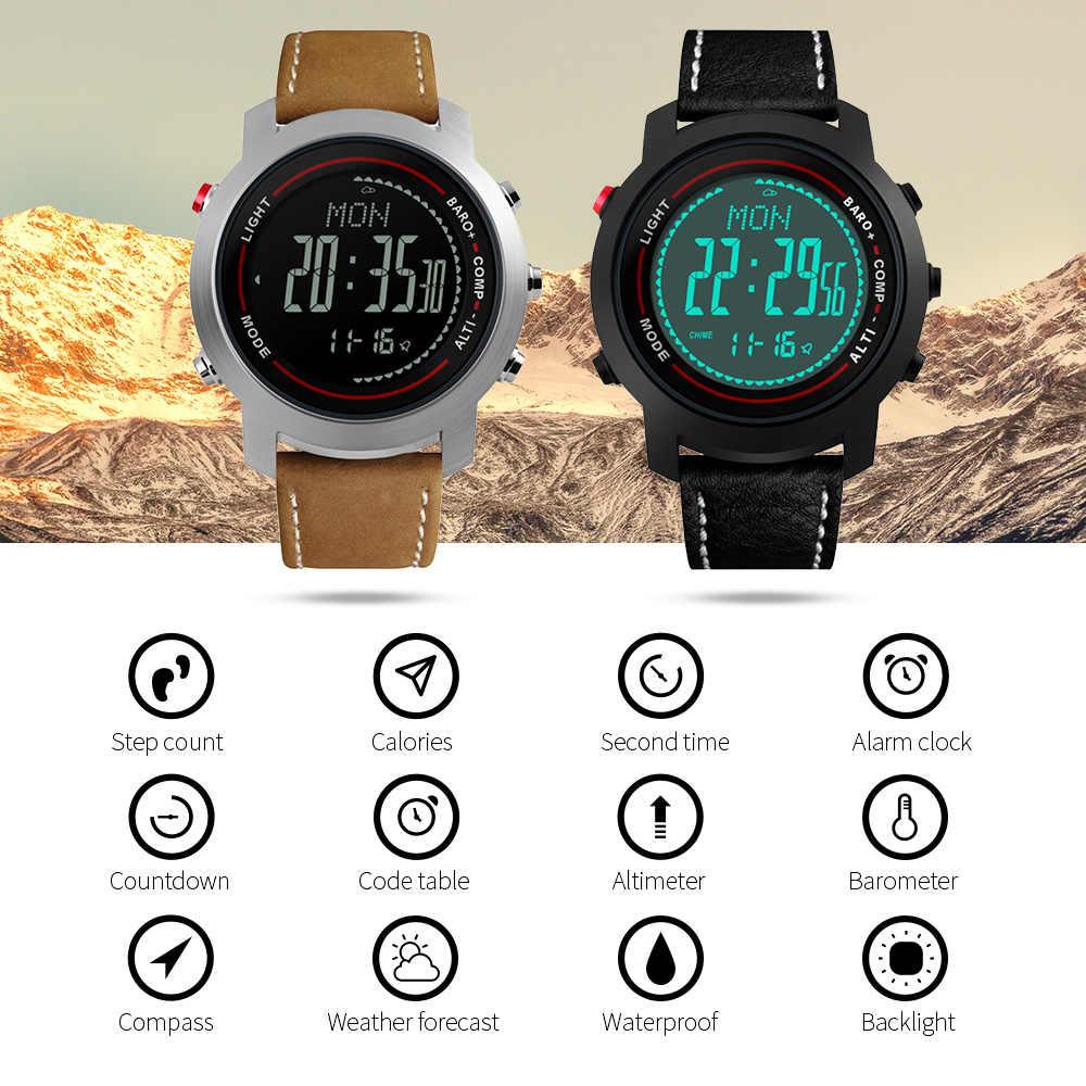 defc01068 ... Top Brand Men s Outdoor Sports Watches Pedometer Altimeter Barometer  Compass Waterproof LED Digital Wrist Watch Fashion