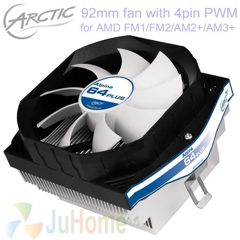 4pin PWM 90mm 92mm ventilador, refrigeración TDP 100 W para AMD AM2 AM2 + AM3 AM3 + FM1 FM2 FM2 +, CPU cooler ventilador del radiador, Arctic Alpine 64 más
