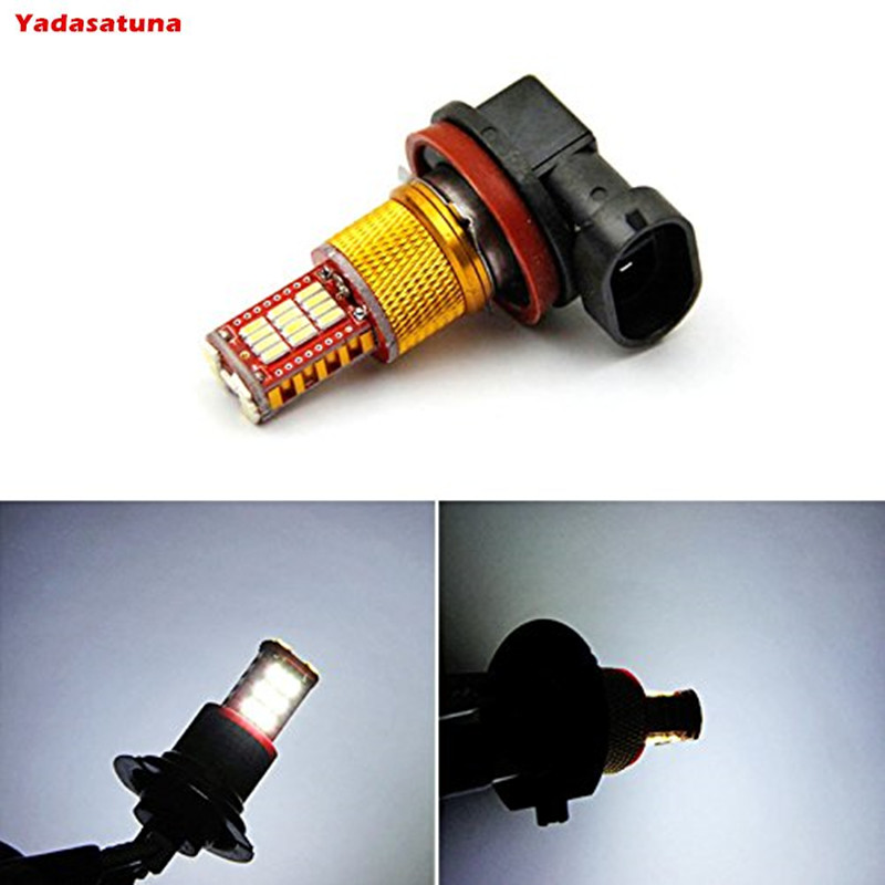 2* super bright Canbus Error Free H11 LED White 33-SMD Replacement Bulbs Fog Lights DRL  ...