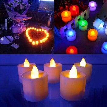 Bougie à LED multicolore
