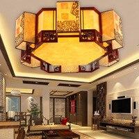 Деревянные потолочные светильники в китайском стиле для гостиной  Классические креативные потолочные светильники для спальни ZH ZS59