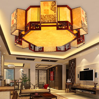 Chinese style Wooden Chinese style living room classical creative shaped ceiling lamps bedroom ceiling lamp ZH ZS59