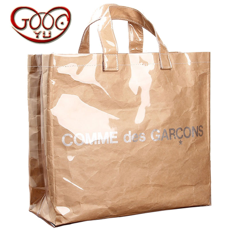 Fashion casual high-capacity shopping bags Kraft primary colors Totes