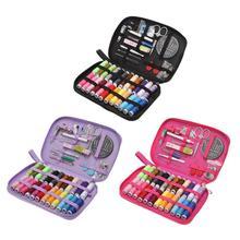 24 цвета DIY Многофункциональный набор игл для шитья нитки устройство вдевания нитки ленты Ножницы сумка для хранения набор