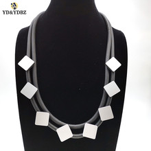 YD&YDBZ 2019 New Arrival Fashion Punk Sweater And Dress Necklaces Womens Pendant Necklace Black Rope Rubber Choker Jewelry Gift
