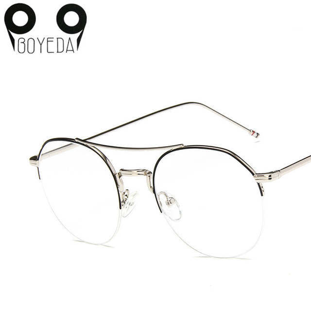 5b84cdef403 Online Shop BOYEDA Vintage Round Eyeglass Frames for Women Men Metal  Prescription Spectacles Frame for Round Face Retro Clear Lens Eyewear
