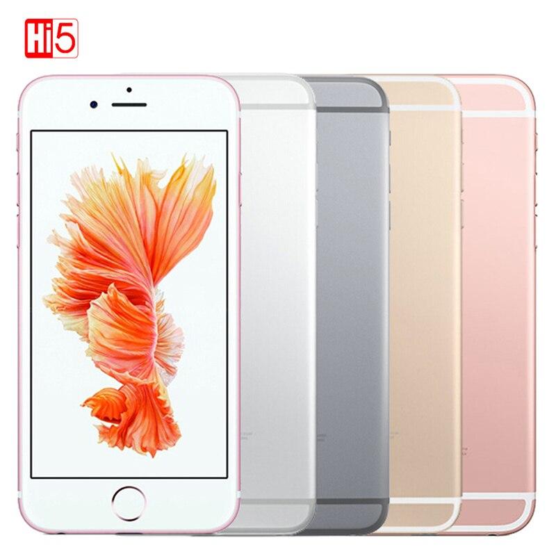 Déverrouillé Apple iPhone 6 s WIFI Dual Core smartphone 16g/64g/128 gb ROM 4.7 affichage 12MP 4 k Vidéo iOS LTE d'empreintes digitales téléphone