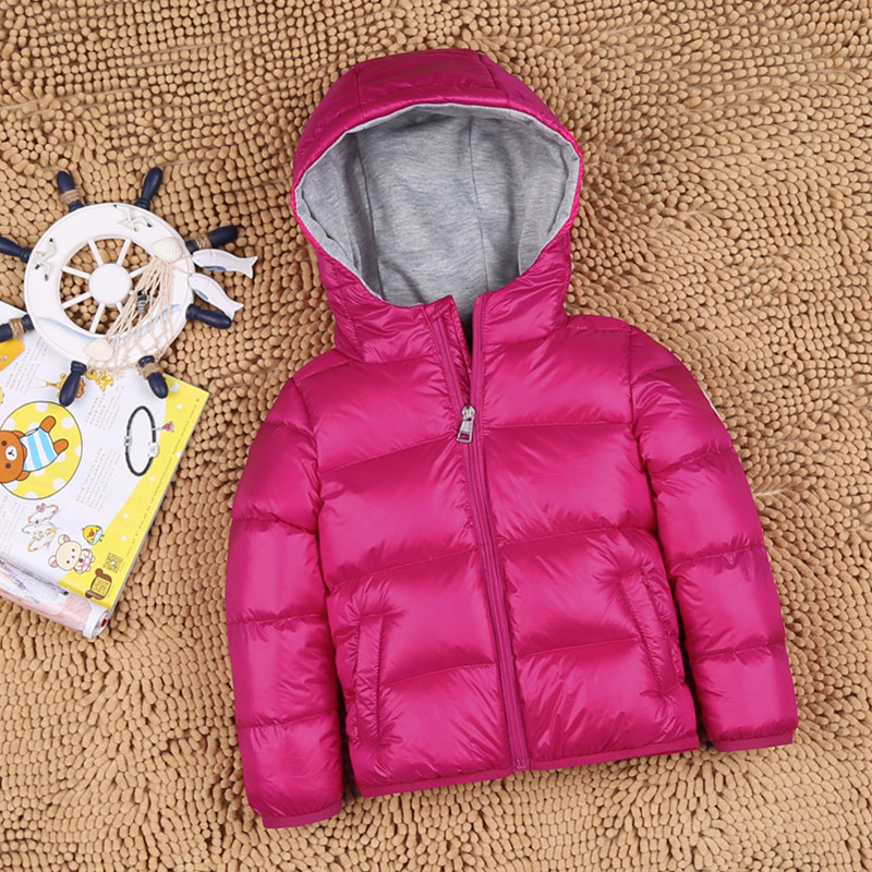New Thick Big Kids Puffer 90% White Duck Down Kids Jacket Coat with Hood Thicken Thermal Winter Children's Parkas купить дешево онлайн