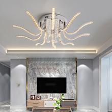Новинка; Лидер продаж хромированный Хрустальный современный светодиодный Потолочные светильники для гостиной спальни кабинет люстры де Сала дома декабря светодиодный потолочный светильник
