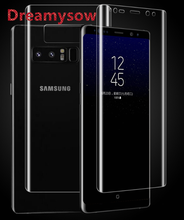 Dreamysow 3D Curved Surface skin Front + Back Soft PET Film For Samsung Note 8 S8 Plus S7 Edge S9 S9 Plus Protective Film Cover(China)