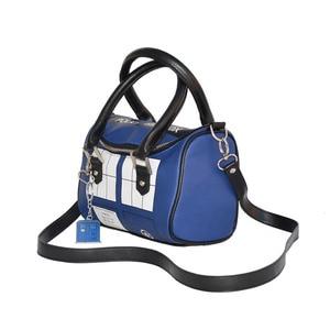 Image 4 - Mysterious Dr. handbag Doctor Who Bag TARDIS Mini Satchel and Metal Charm Keychain Shoulder bag Lady Messenger bag