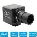H.264 1080 p baja iluminación 0.01Lux Sony IMX322 industrial USB Cámara webcam HD con CCTV varifocal 2.8-12mm lente para Win7 Win8