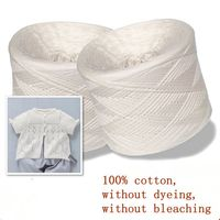 500g Natural White Cotton Knitting Baby Yarn Knitting 100% Cotton Without Bleaching And Dyeing Yarn For Knitting Threads