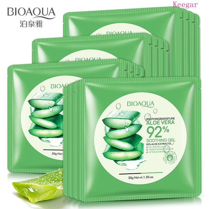 Bioaqua Natural Aloe Vera Gel Face Mask Skin Care Moisturizing Whitening  Oil Control Wrapped Mask Shrink Pores Facial Mask