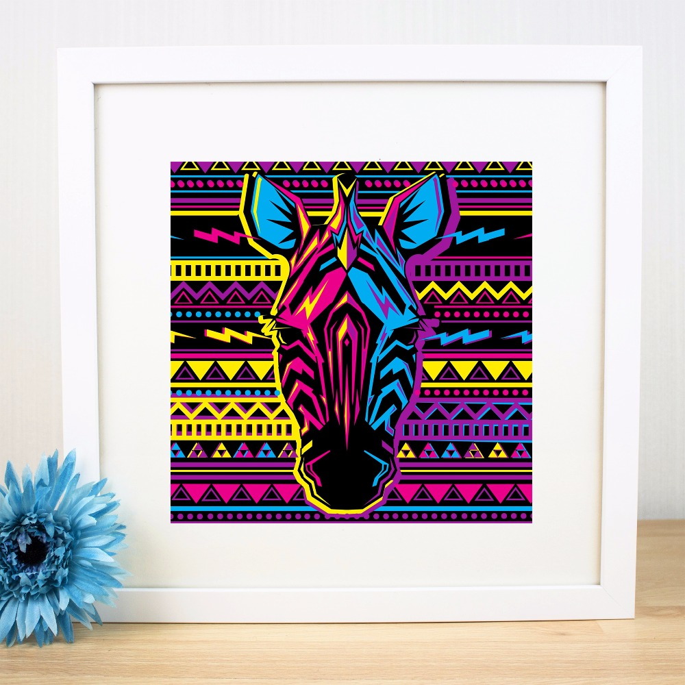 Purple Zebra Wall Decor - Zebra line pattern artwork canvas art print painting poster wall pictures for living room home decorative