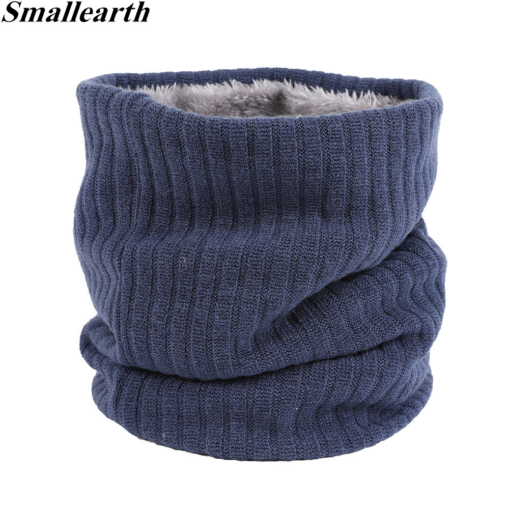 Smallearth Unisex Winter Men Women Warm Ring Scarves Thick Elastic Knit Mufflers