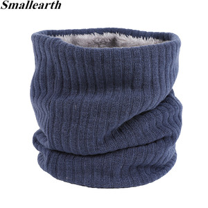 Unisex Winter Men Women Warm Knitted Ring Scarves Thick Elastic Knit Mufflers Children Neck Warmer Boys Girl Plush Scarf Collar(China)
