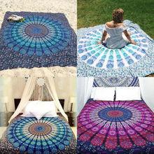La plage de tenture murale pliante ronde des etats unis jette le tapis de Camping de serviette de tapis de Mandala