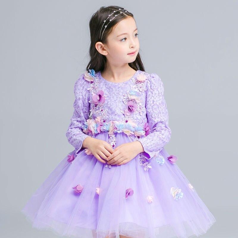 Lace Flower Girl Dresses Vintage Tulle Mother Daughter Dresses Party Princess Dresses Knee-Length Children Girl Party Dresses