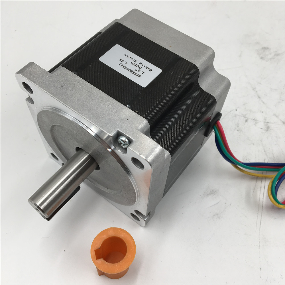 Stepper Motor Nema 34 Flange 86mm 2 Phase 4A 66mm Motor For CNC Machine 1.8 Degree 3NM/ 429oz.in Motors With Keyway 5mm
