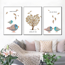 Canvas Painting Cartoon Bird Decorative Paintings Living Room Mural Wall Art Posters And Prints Pictures