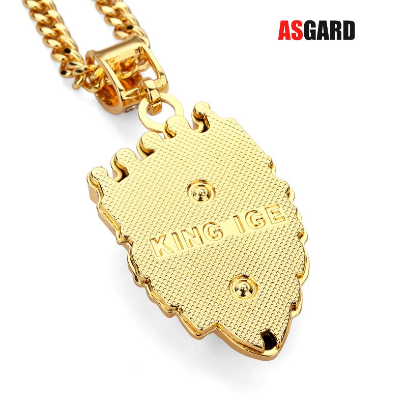 ASGARD Men Hip Hop Jewelry Iced Out Gold Fashion Bling ...