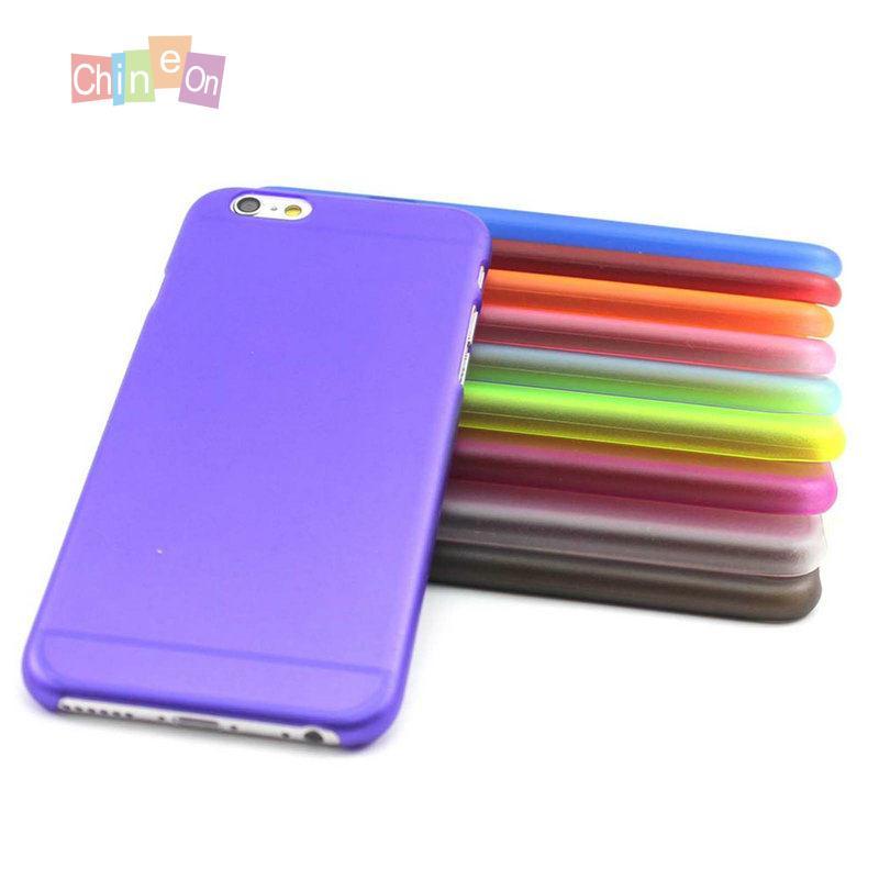 Новый ультра разноцветный тонкой полупрозрачной жесткий Пластик черный чехол кожи для iPhone 6 4,7 чехлы для телефонов