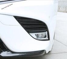 Yimaautotrims Frontale Testa Nebbia Illumina la Lampada Della Copertura Della Protezione Accessori Esterni Trim 2 Pcs Misura Per Toyota Camry 2018 2019/ ABS