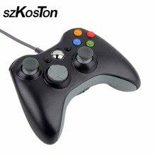 Горячий USB проводной джойстик игрового контроллера для Xbox 360 Джойстик контроллер для официальный Microsoft PC для Windows 7/8/10