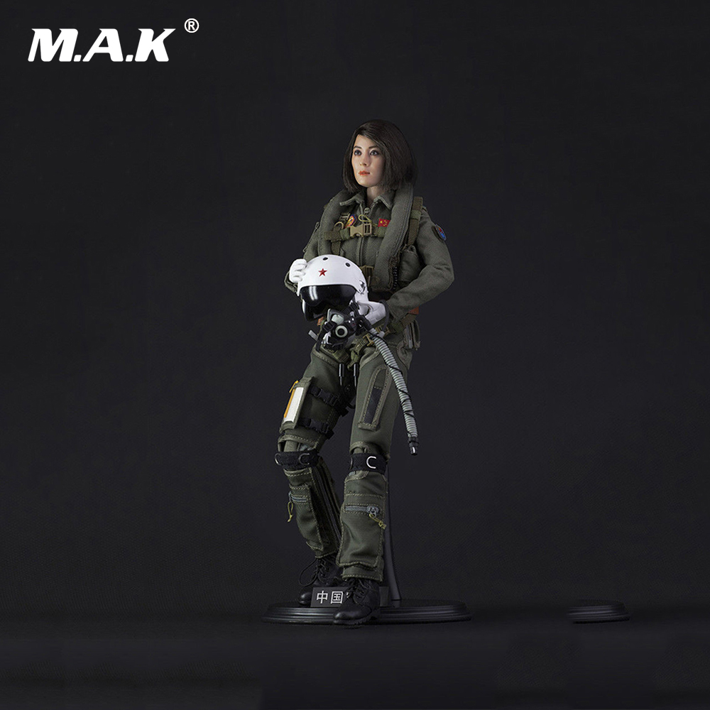 In Stock 1/6 Scale FS-73006 Chinese Air Force Women Pilot Action Figure Toy Doll Toys Gift for Collection in stock al100019 1 6 full set military soldiers action figure model wwii royal air force pilot figure toy for collection gift