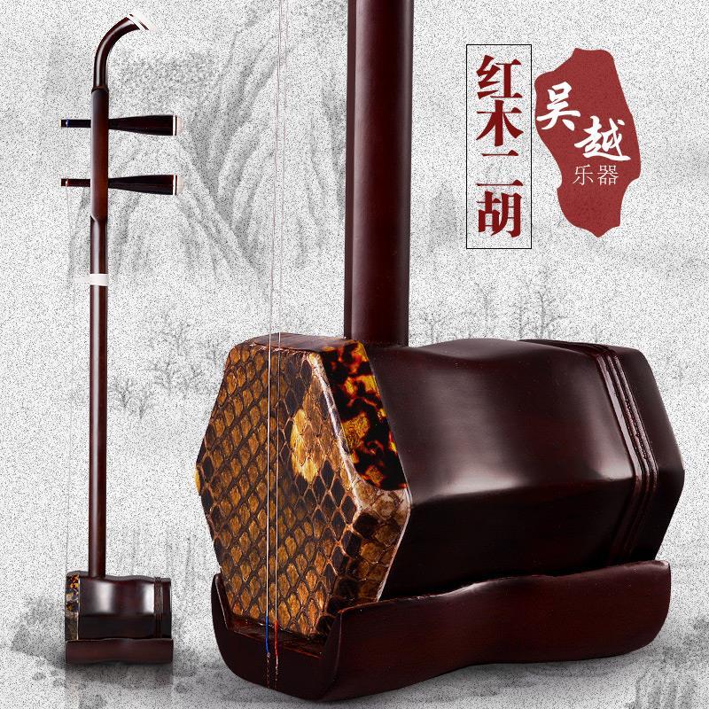 Cinese erhu musicale a fiato strumenti ebano madeira cina Violino a due corde con l'arco e il caso duro
