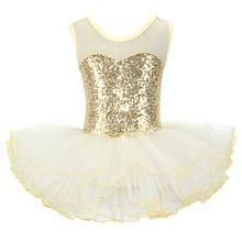 Nice Girls Ballerina Fairy Prom Party Costume Kids Sequined Flower Dress Dancewear Gymnastic Leotard  Ballet Tutu Dress