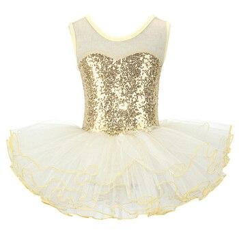 Nice Girls Ballerina Fairy Prom Party Costume Kids Sequined Flower Dress Dancewear Gymnastic Leotard  Ballet Tutu - discount item  25% OFF Stage & Dance Wear