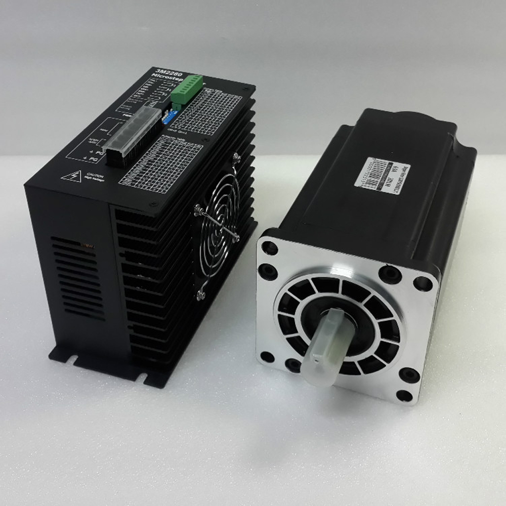 Nema 42 20N.m Stepper Motor+Drive Kits 3Phase Micro Stepper Motor Drive Kit 6.9A 110mm Hybrid Stepper Motor Kit for CNC Router [joy] hakusan original stepper motor drive 4257 series drive maximum 64 aliquots voltage 15v 40 2pcs lot