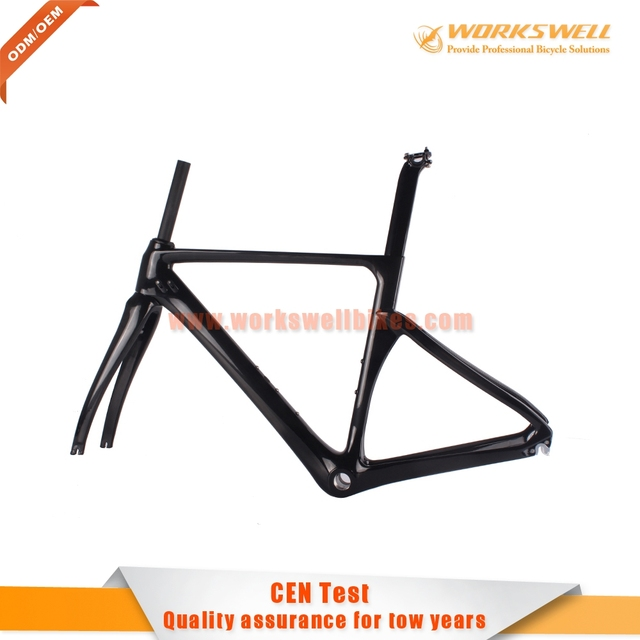 Amazing Neweset Carbon Fiber Bike Frame 700c Road Bike Frame Carbon Road Bike Frame  Manufacture TT Bicycle