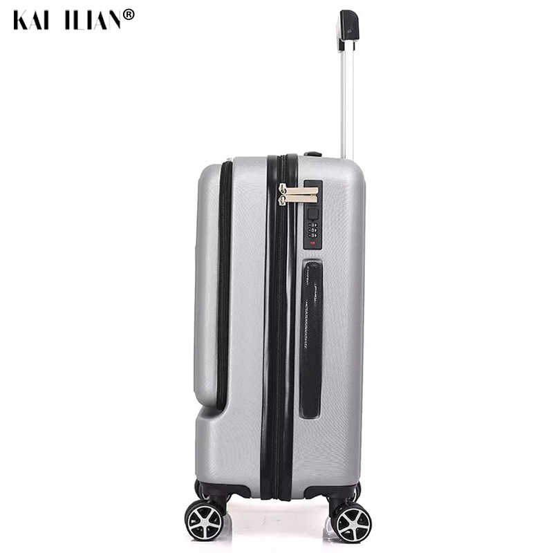 ¡Novedad! maleta de viaje de 24 pulgadas con bolsillo frontal, con ruedas, con contraseña, 20 pulgadas, para mujer