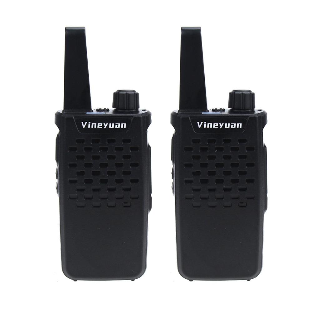 Vineyuan Walkie Talkie Mini Portable 3W 16 Channels UHF 400-470 MHz Two Way Radio Handheld Transceiver Ham CB Radios Interphone