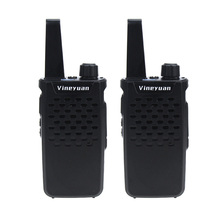Vineyuan Walkie Talkie Mini Portable 3W 16 Channels UHF 400-470 MHz Two Way Radio Handheld Transceiver Ham CB Radios Interphone