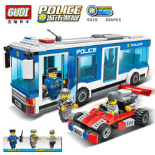 GUDI Police Series City Interception culprits Building Block Bricks Toys for Children Christmas