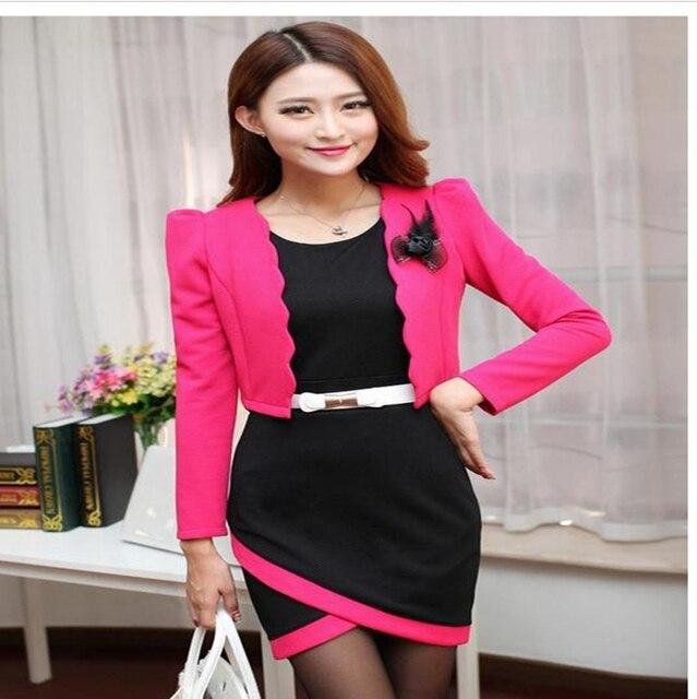 Outono novo OL commuter moda qualidade profissional two-piece Vestido de cultivar a moralidade pequeno terno ternos das mulheres