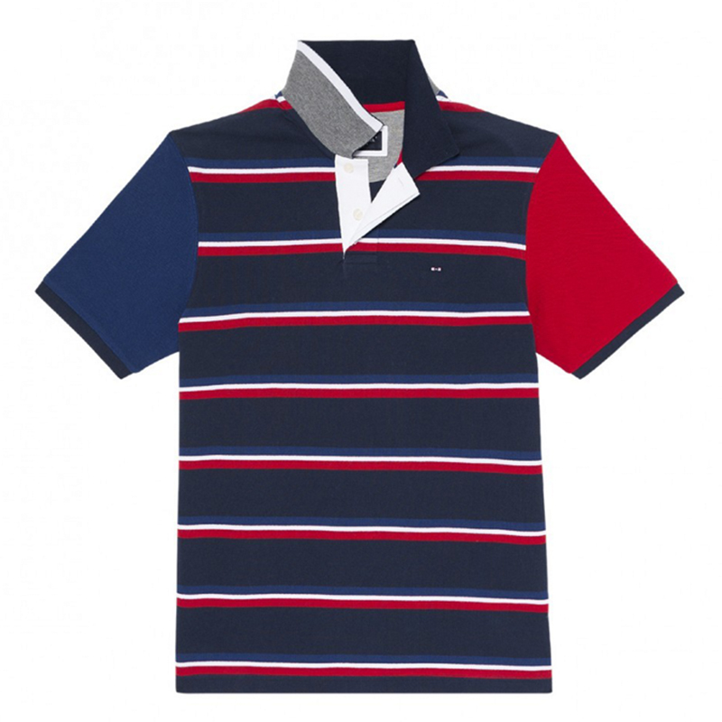 2019 NEW MENS   POLO   SHIRT STRIPED SUMMER EDEN SERIGE PARK FRANCE LUXURY BRAND tommy hilfigger   polo   homme de marque haute qualite