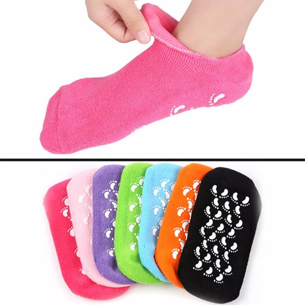 Cotton Softening Pure Moisturising Gel Socks Foot Care Spa Treatment Anti-slip